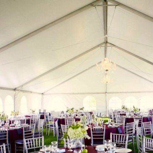 CLASSY TENT WEDDING RECEPTION