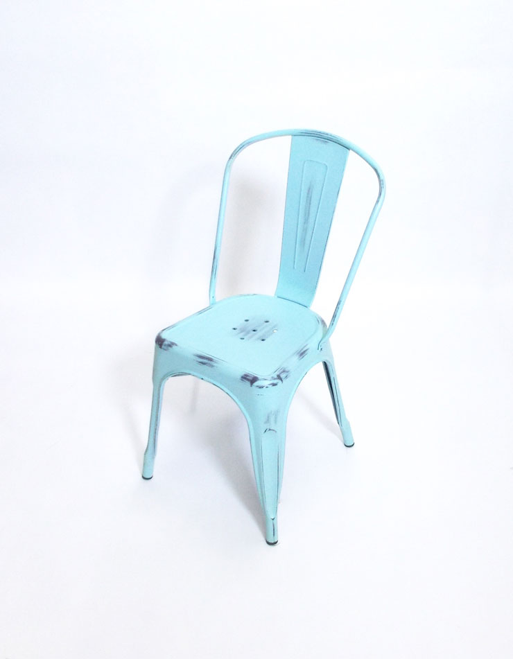 Retro Chair Distressed Blue Rsvp Party Rentals