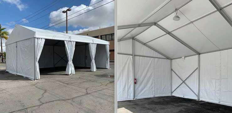 Coronavirus tent, covid-19 testing tent